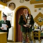 Der Gewinner des Wanderpokals der Luftpistole Anton Fritschka